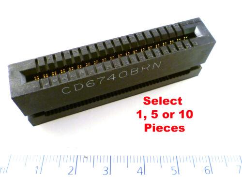 Midland Ross CD6740 BRN 40 Way IDC Ribbon Cable Card edge Connector MBH011K