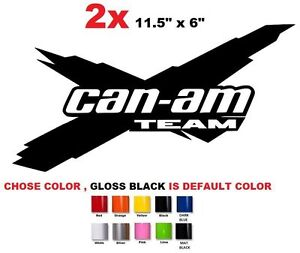Details About 51 2 X 115 Brp Can Am Maverick Commander Outlander Team Sticker Decal