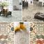 Shabby Chic Cushion Vinyl Flooring Sheet Kitchen /& Bathroom Tile Effect Lino