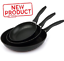 3-Paquete-De-Aluminio-Antiadherente-Sarten-Set-7-9-11-034-Sarten-Kitchen-Cooking-Recubrimiento miniatura 1