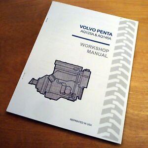 volvo penta aq125a aq145a engine service repair workshop manual book rh ebay com 03 Volvo Penta 4.3 Volvo Penta Engine Diagram