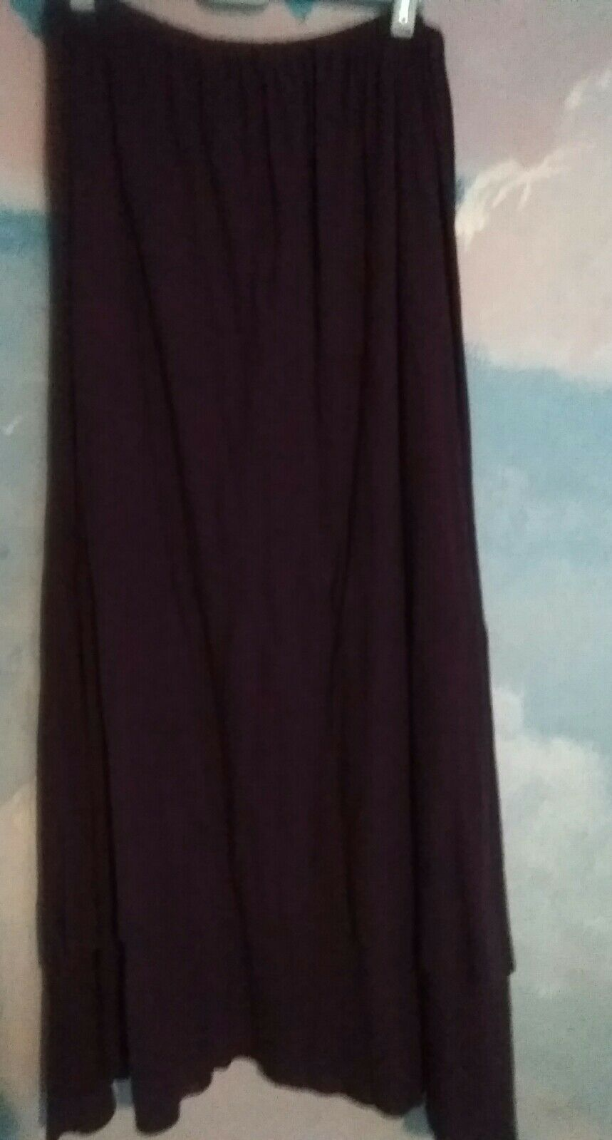 Mes soeurs st moi Fanny Skirt in 100% Cotton Knit in Dark Purple,  L