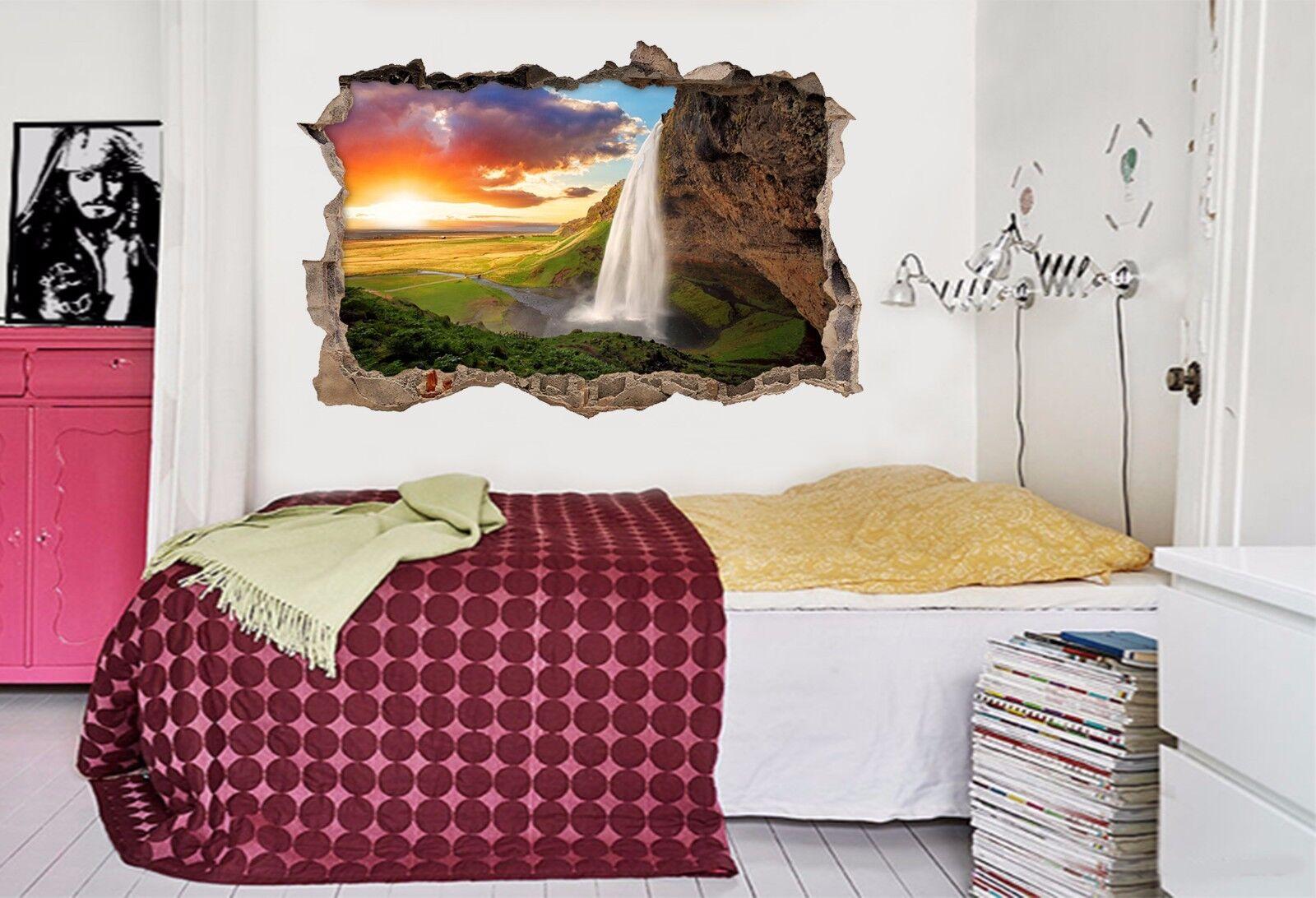 3D Wasserfall 742 Mauer Murals Mauer Aufklebe Decal Durchbruch AJ WALLPAPER DE