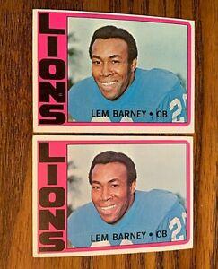 1972 Topps #42 Lem Barney - Lions - HOF
