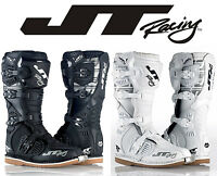 JT RACING PODIUM MOTOCROSS MX BOOTS BLACK or WHITE off-road enduro trail bike