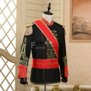 Men's Honor guard Uniform Suit Western Jackets Pants Tassels