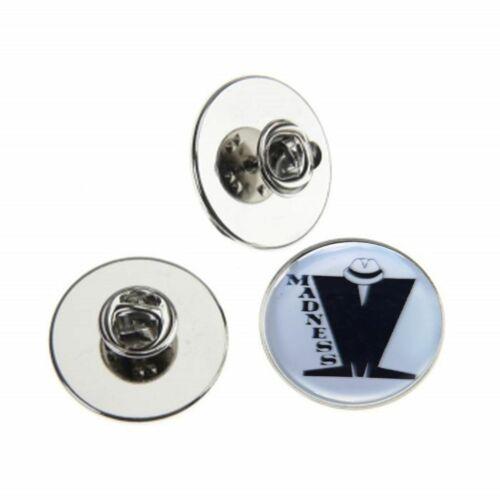 Insignia pin de locura Ska de metal con el logotipo de 25mm