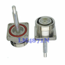 1pce Connector 7/16 DIN L29 female Extended Pin 4-hole flange O-ring panel mount