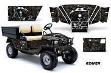 AMR Racing EZ Go Workhorse Wrap Golf Cart Decals Graphic Kit 1996-2003 REAPER BK