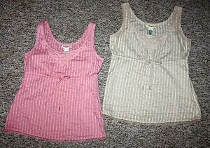 2-STAMP-10-Designer-Embroidered-Cotton-amp-Lace-TANK-TOPS-Side-Zip-Sz-10
