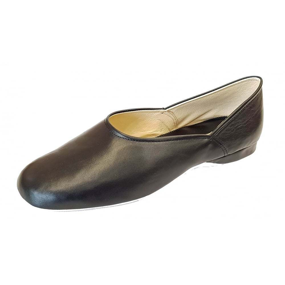 RELAX GRECO Pantofola Da Uomo In Pelle Nera