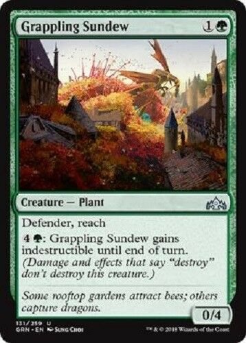 4x Grappling Sundew 4x uncommon Guilds of Ravnica MTG Magic The Gathering 4x