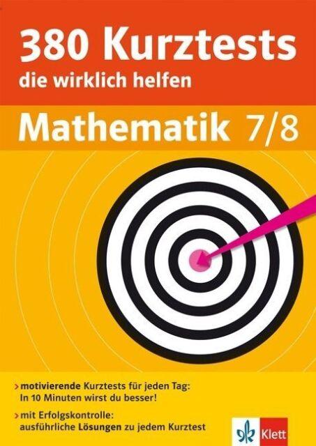 380 Kurztests die wirklich helfen Mathematik 7/8 (2014, Taschenbuch)