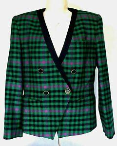 Kasper-ASL-Womens-Wool-Multi-Color-Blazer-Jacket-Sz-6