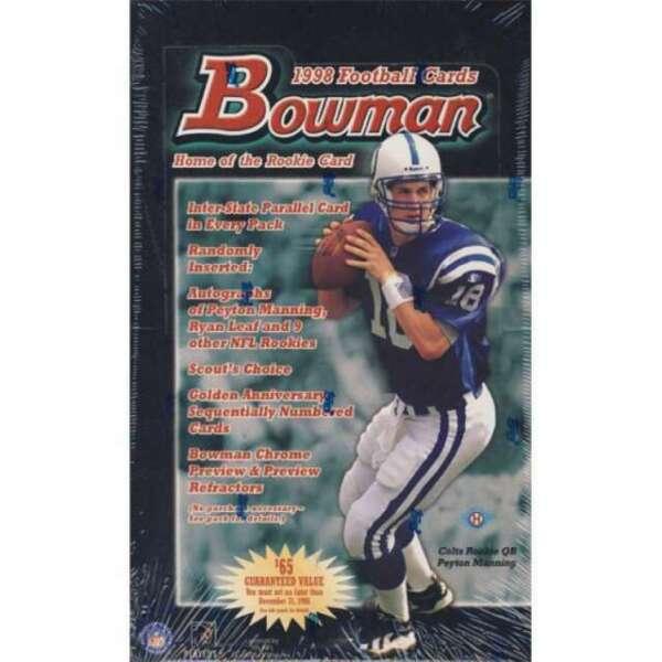13 X 1998 Bowman Hobby NFL Football Packs-manning Rookie