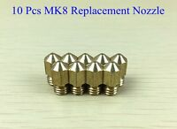 10pcs Makerbot Replicator 1 & 2 Replacement Mk8 0.4mm Nozzle 3d Printer Hot End