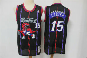 Color : A, Size : S G/&F Vince Carter Swingman Basketball Jersey Raptors #15 Retro Fans Training Wear Tops Breathable High Elasticity Embroidered Jerseys S-XXL