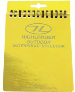 Highlander-Outdoor-Hiking-Waterproof-Notebook-15x12cm-All-Weather-Conditions