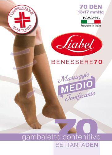 GAMBALETTI RIPOSANTI 70 DEN DONNA COMPRESSIONE MEDIA mmHg 13//17 LIABEL ART 7004