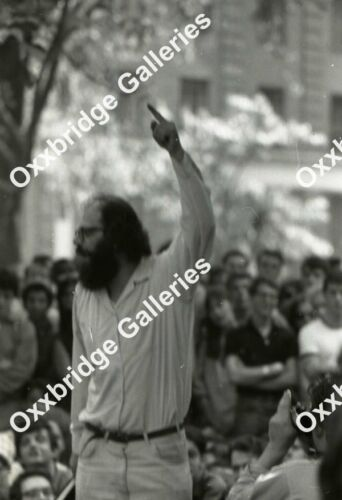 ALLEN GINSBERG Beatnik Counter Culture Radical Activist PEACE MOVEMENT 1966 SDS