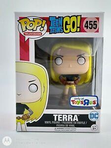 FUNKO-POP-television-Teen-Titans-Go-Terra-Juguetes-R-US-Exc-455-Reino-Unido-STOCK