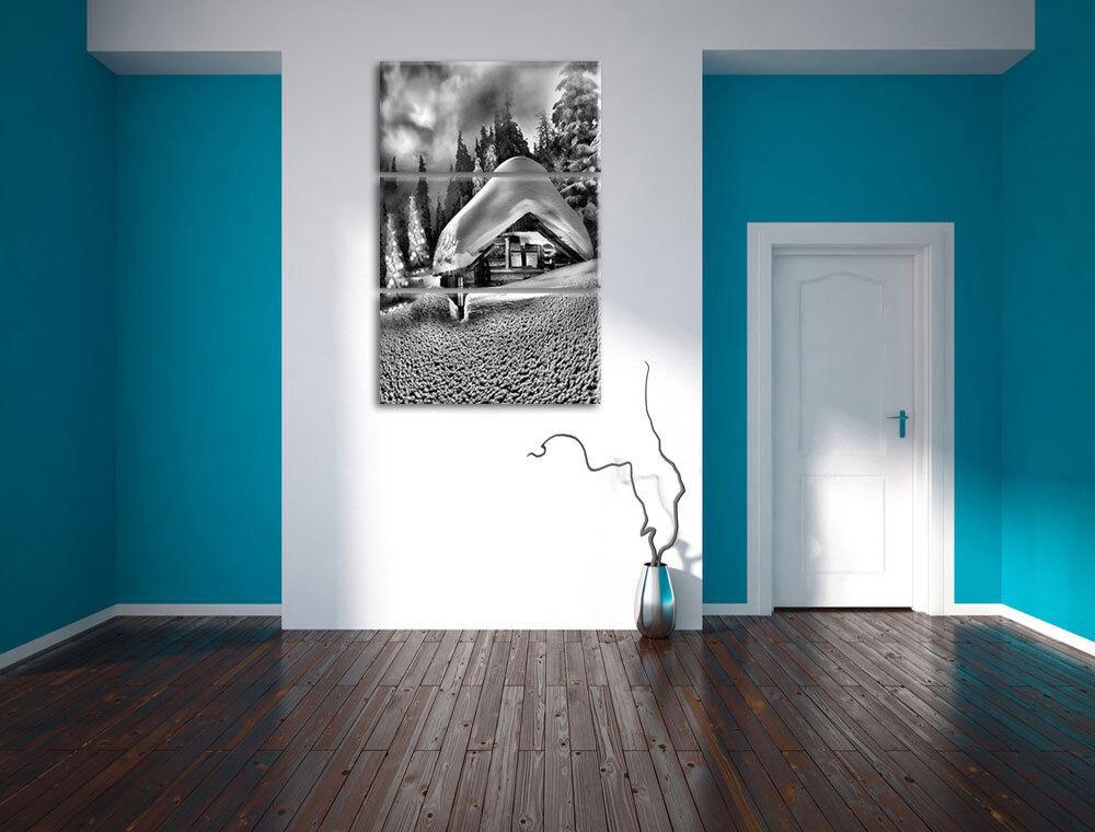 Pequeñas de 3-Teiler Ensueño Cabaña 3-Teiler de Foto en Lienzo Decoración de Pa rojo  bd0294