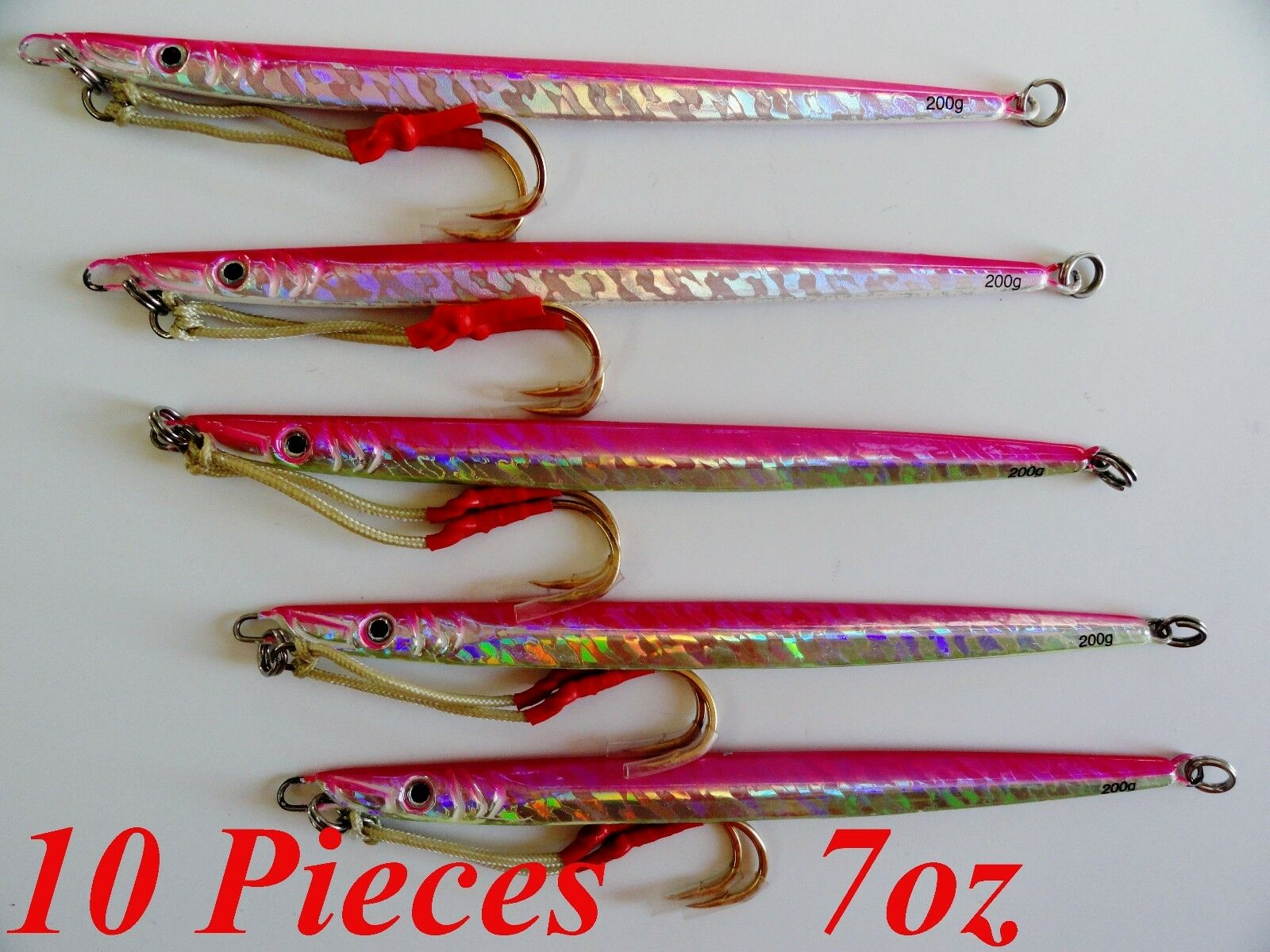 10 pcs Knife Jigs 7oz 200g  Pink 9  greenical Speed Saltwater Fishing Lures  here has the latest