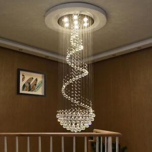 LED Treppen K9 Kristall Kronleuchter Deckenlampen Hängelampe Lüster Leuchte Lamp