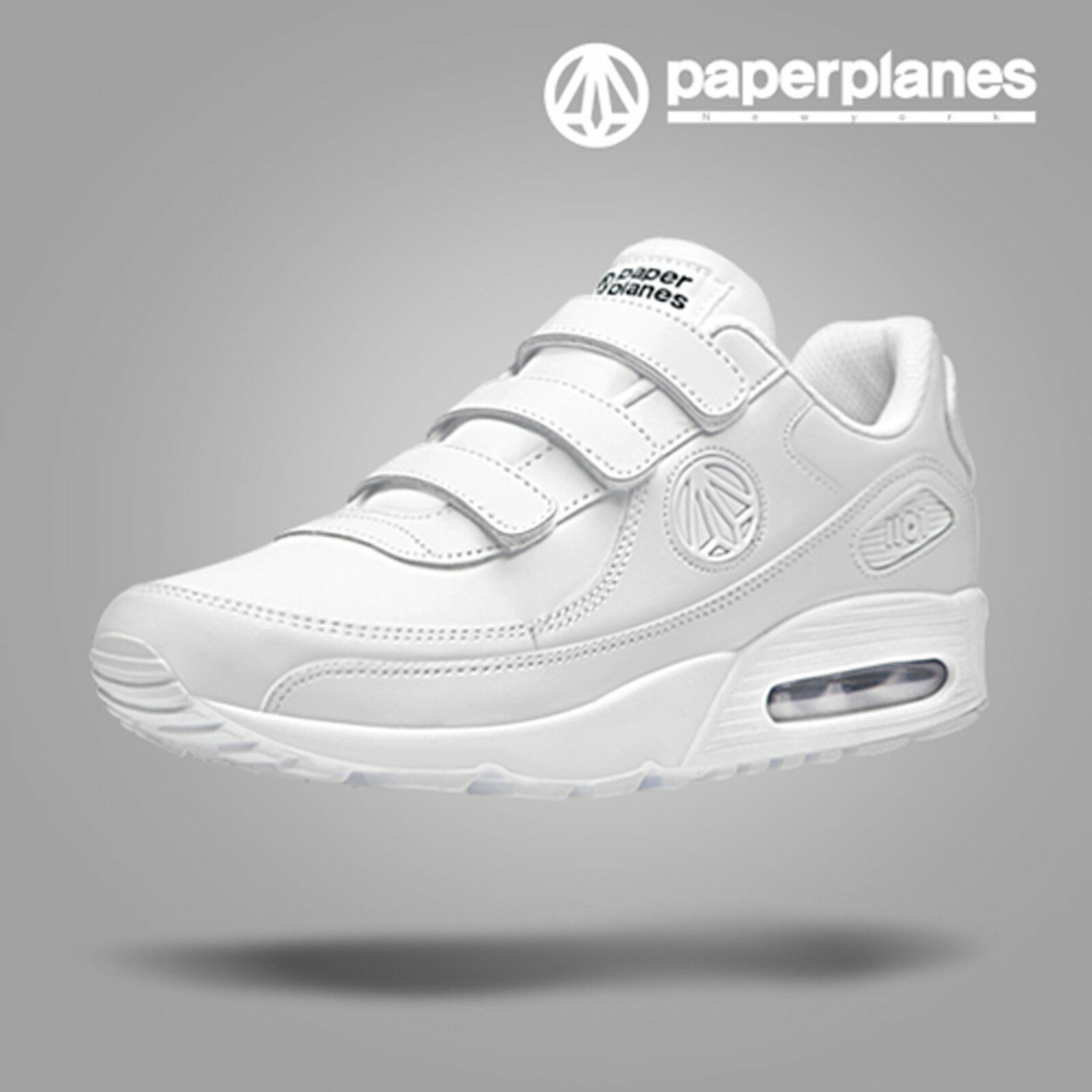 2018_Paperplanes Mens Sports Running Trainig Comfort Athletic Shoes_WHITE