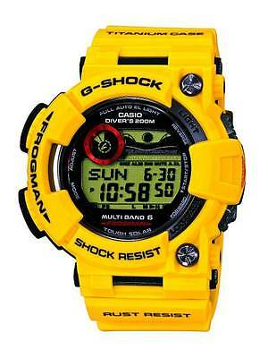 CASIO G-SHOCK frogman Mens Watch GWF-T1030E Lightning Yellow 30th Rare Auth New