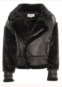 Women's Giacca Sherpa Lined Faux LeatherJacket