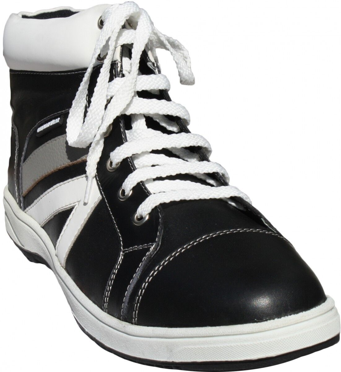 Alemán Wear, zapatillas de cuero zapatos zapatillas de cuero liso negro