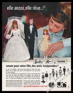 1964-married-Barbie-doll-Ken-photo-vintage-print-ad-Z1