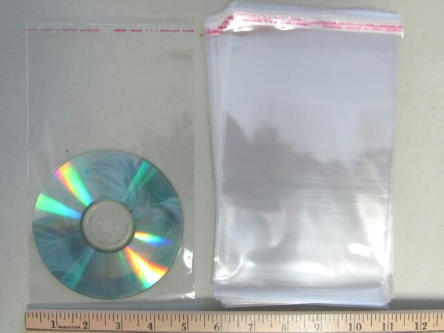 """100 Self Adhesive Resealable 6""""x8 Clear Plastic Cellophane Bag/Packaging Cello-i"""