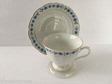 Made in China Blue Forget Me Nots Flower Tea Cup & Saucer Set