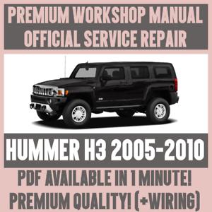 workshop manual service repair guide for hummer h3 2005 2010 rh ebay co uk hummer h2 2008 workshop manual hummer h3 workshop manual