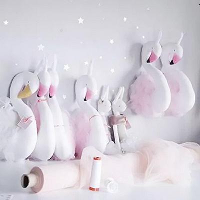 Cute Handmade Kids Baby Princess Swan Stuffed Toy  Home Decoration G