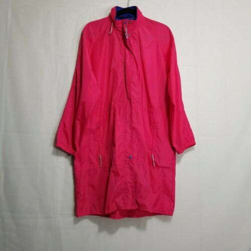 The Woolrich Woman neon zip up rain trench coat pi