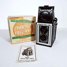 VINTAGE SPARTUS FULL-VUE TWIN LENS REFLEX CAMERA W/ BOX & INSTRUCTIONS - 120mm
