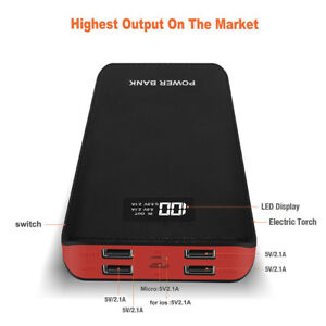 Power-Bank-50000mAh-4USB-LCD-LED-External-Battery-Charger-for-iPhoneX-Samsung-S9