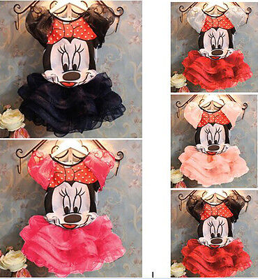 Kids Baby Girls Princess Skirt Cute Minnie Mouse T-Shirt Tutu Dress Outfits