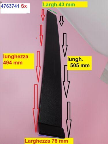 Modanatura coperchio rivestimento in Pvc verticale nera in parte adesiva