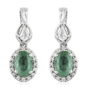 Green-Kyanite-Topaz-Cambodian-Zircon-Platinum-Sterling-Silver-Dangle-Earrings