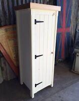 Solid Pine Handmade Rustic Shabby Chic Single Broom Cupboard Great Storage Unit