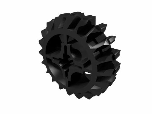 4 x schwarz 32269 LEGO Technik Doppelkegel Zahnrad mit 20 Zähnen neu
