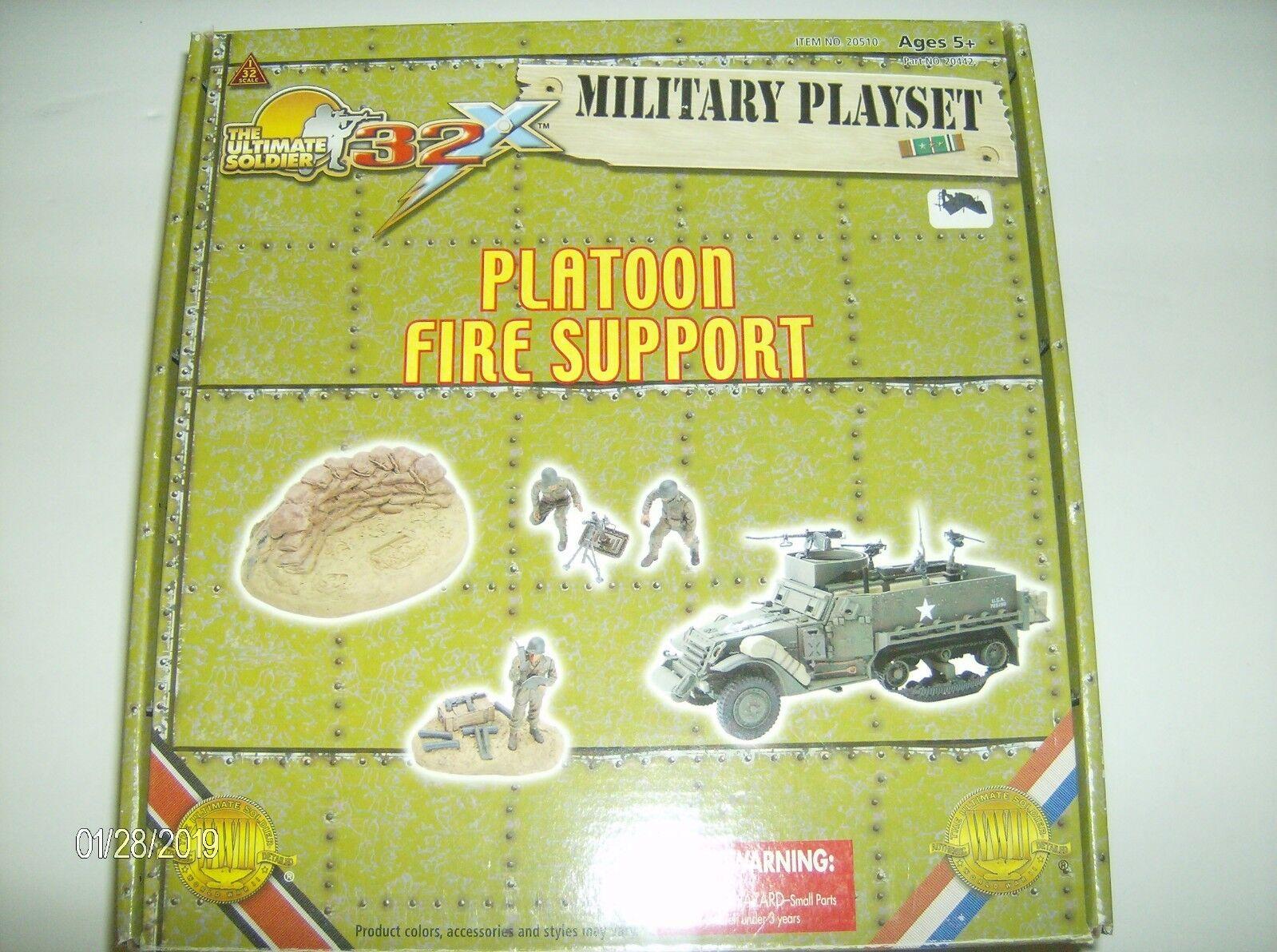 promociones emocionantes 21st 21st 21st Century Juguetes  20442 Platoon fuego soporte de la segunda guerra mundial  muchas concesiones