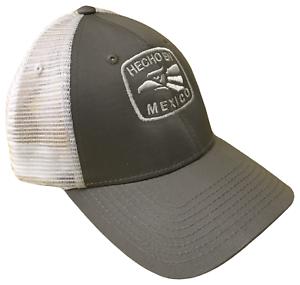 39e194020a1 Hecho En Mexico Grey   White Mid Profile Mesh Golf Trucker Cap Caps ...