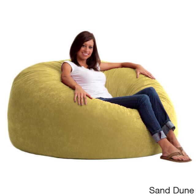 Fufsack 5 Foot King Memory Foam Microfiber Bean Bag Chair New