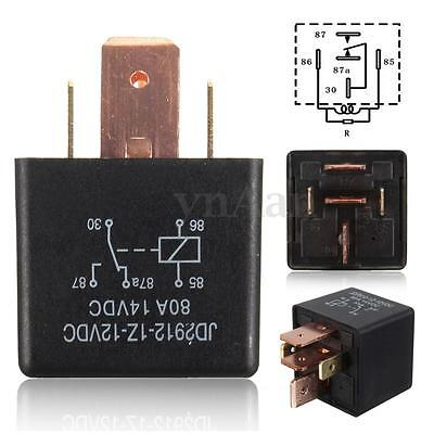 12V 80A 5Pin DIY Relay for Car Vehicle Truck Van Motor Boat Auto Automotive SPDT