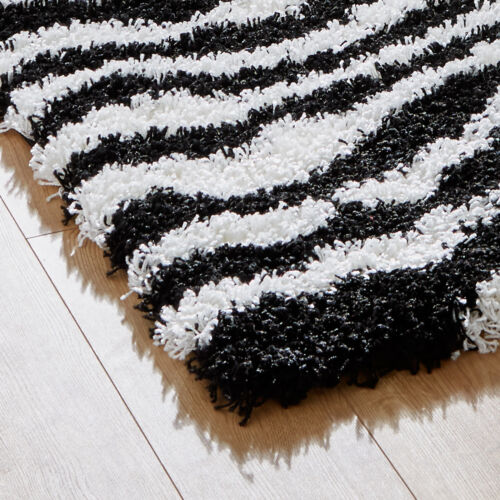 THICK MODERN ABSTRACT SMALL X LARGE SHAGGY PLAIN SOFT NON SHED RUG ROUND RUNNER